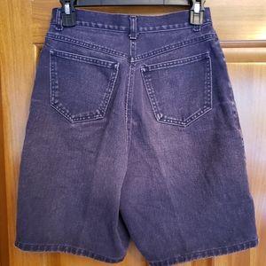 VINTAGE purple high rise mom jean shorts 10
